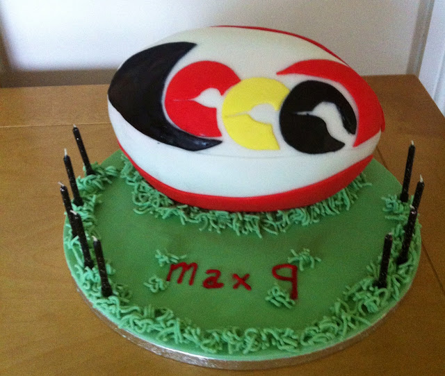Cake Decorating Course Rugby : Strictly Baking: Rugby Ball Cake