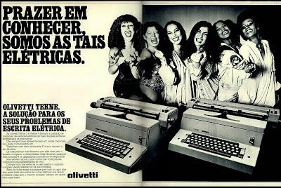 """propaganda Olivetti com as """"Frenéticas"""" - 1978"""