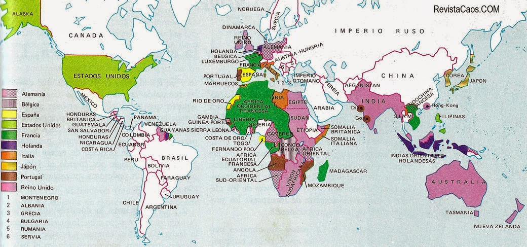 creartehistoria Mapa sobre la Expansin Europea 18701914