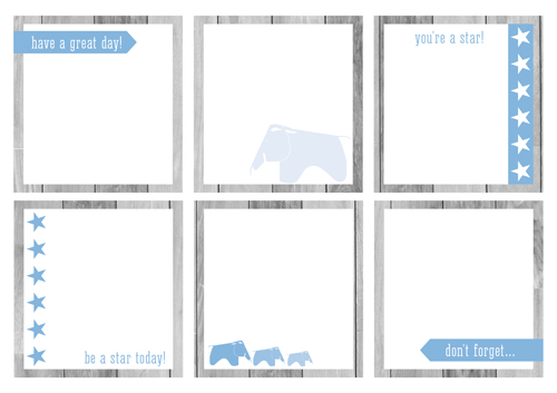 Back to School Free Printable Lunchbox Notes