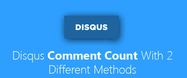 Get Disqus comment counts using two different methods