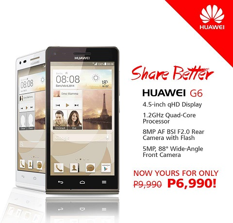 Huawei Ascend G6 Price Drop