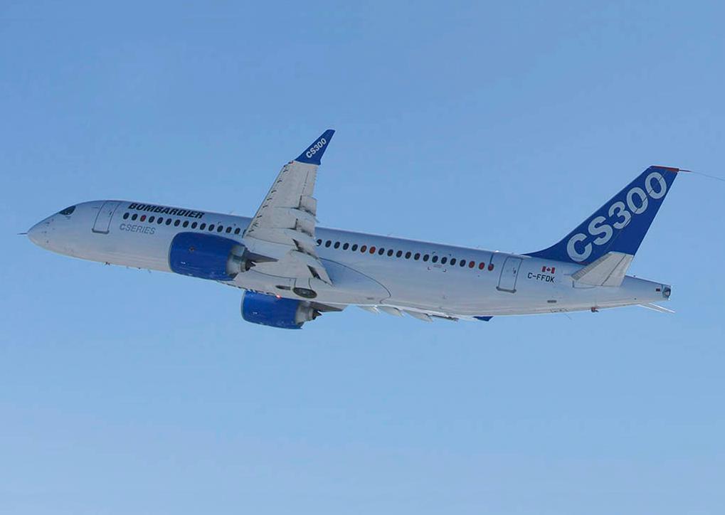 CS300 de Bombardier realizó con éxito su primer vuelo de prueba