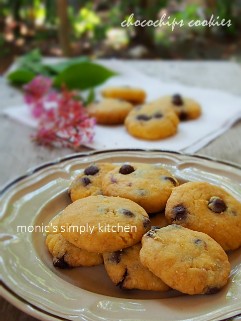 resep chocochips cookies margarin