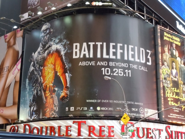 Battlefield 3 game billboard NYC
