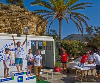 Wedstrijden suping tijdens Gourmet race Moraira