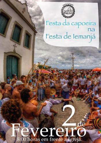 Festa da capoeira na Festa de Iemanja