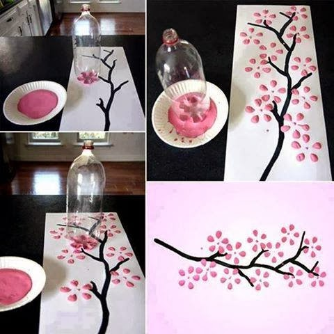 Cherry Blossom Art Pet Bottle