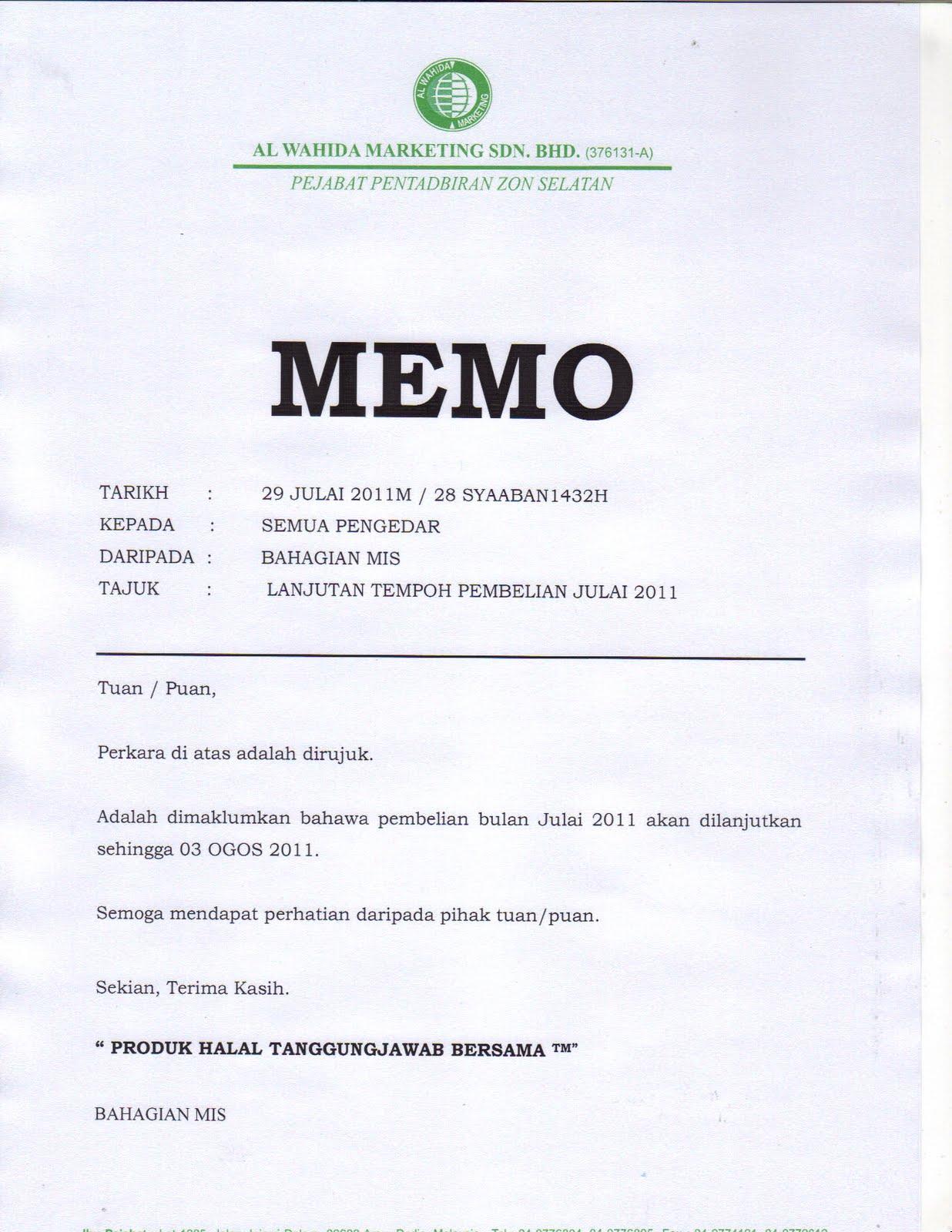 memo s