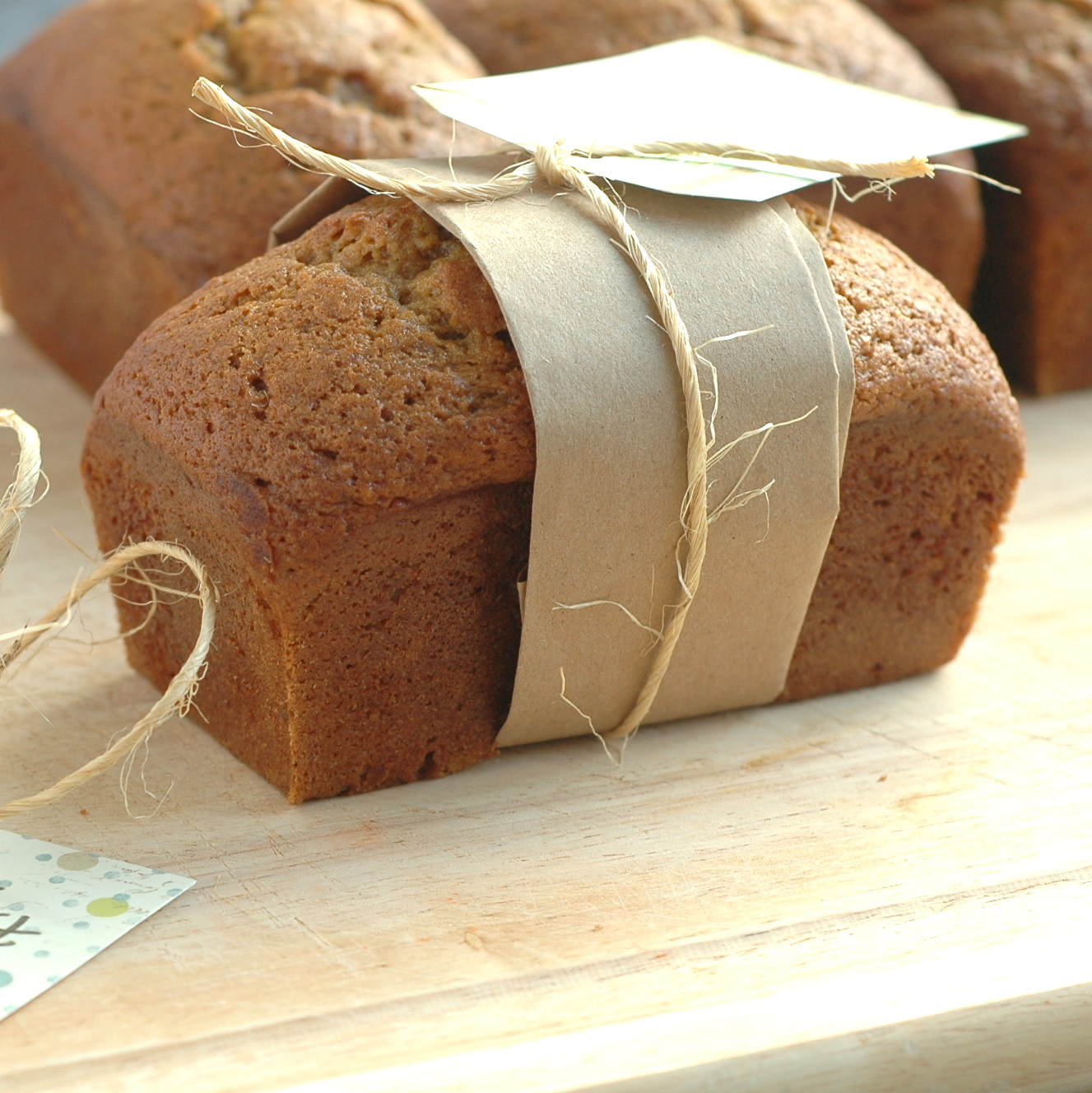 Good Thymes and Good Food: Pumpkin Gingerbread Mini Loaves