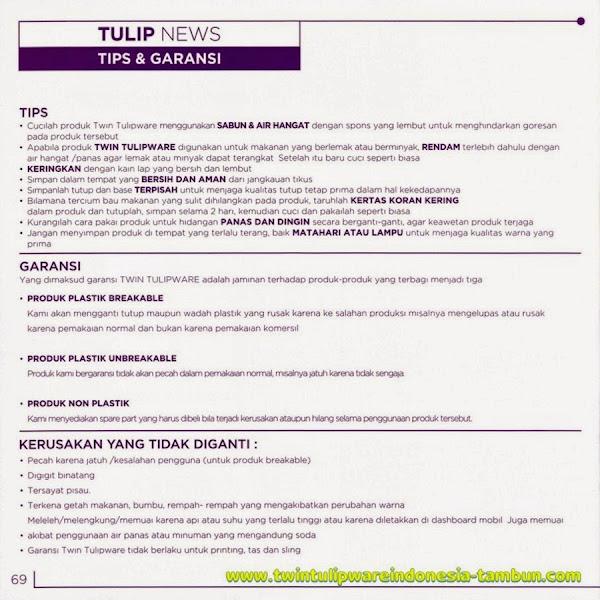 Tulip News, Info, Tips, Garansi Tulipware 2014