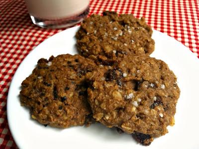Gluten-free Vegan Salted Oatmeal Cherry Cookies