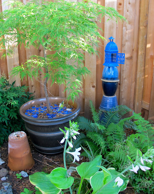 shade garden ideas, garden art
