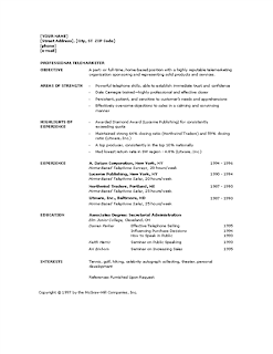 Chronological telemarketer resume, Word
