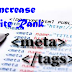 How To Add META Tags In Blogger For Better SEO