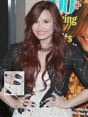 Demi Lovato Nail Styles