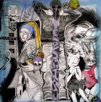 Graffiti art and street art Girl