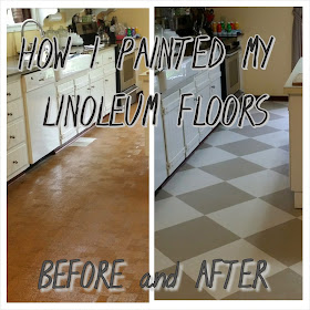The virtuous wife how i painted my linoleum floors for Can i paint vinyl flooring