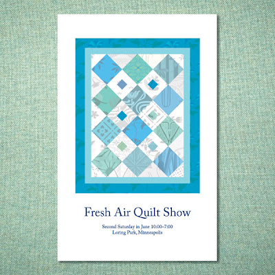 quilt show poster made in illustrator