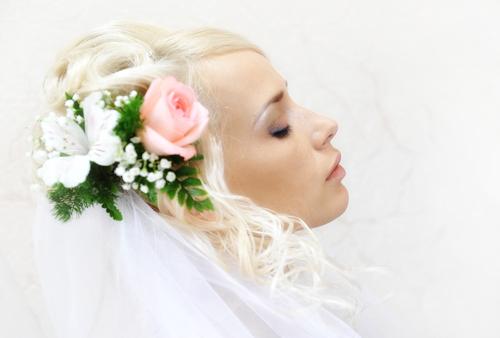 Fake Hair Flowers Weddings 44