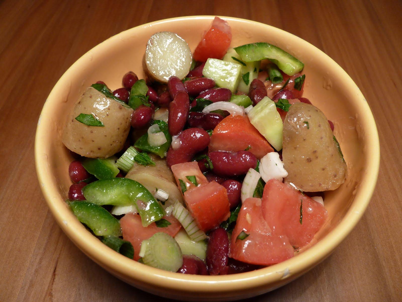 do you speak vegan salade d 39 t aux haricots rouges et aux pommes de terre nouvelles. Black Bedroom Furniture Sets. Home Design Ideas