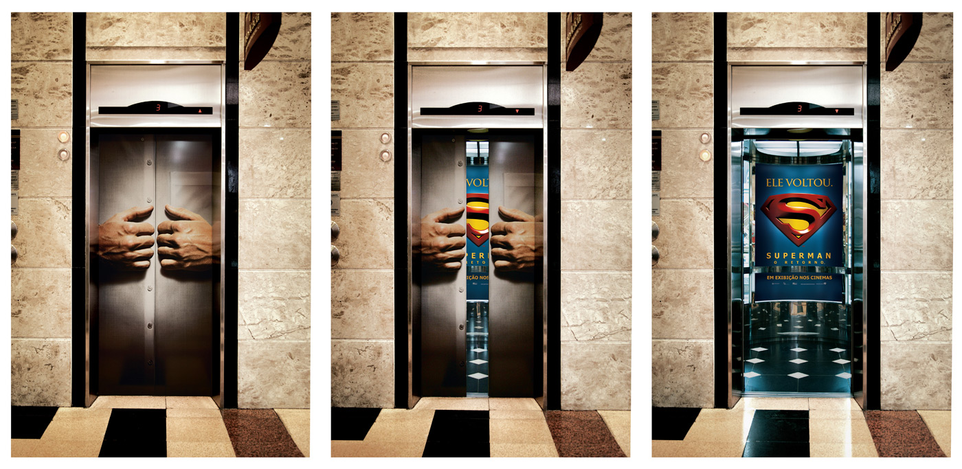 Superman The Movie Elevator Top 27 Creative Elevator Advertisements
