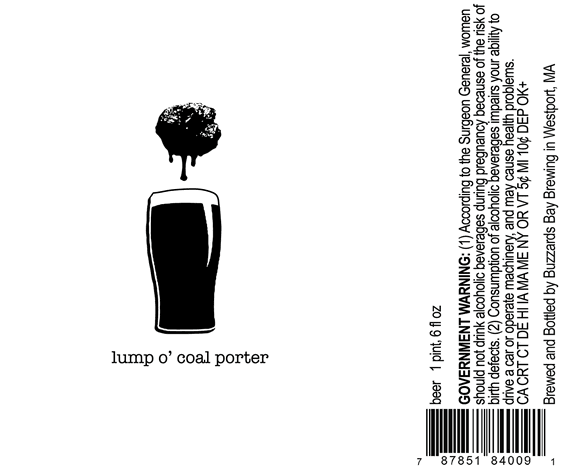 Just Beer Lump o Coal Porter label design