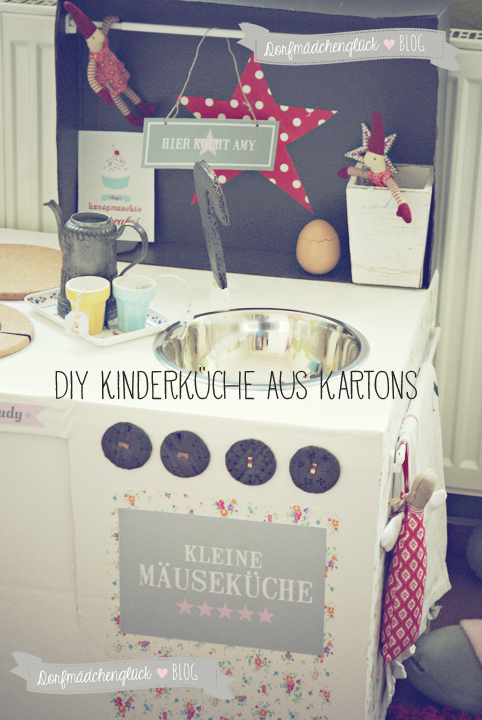dorfm dchengl ck diy kinderk che aus kartons. Black Bedroom Furniture Sets. Home Design Ideas