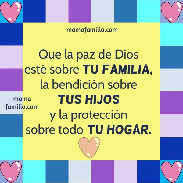 Reflexión corta cristiana para la familia, relaciones familiares, bendición sobre hijos por Mery Bracho. Palabras a mi familia.