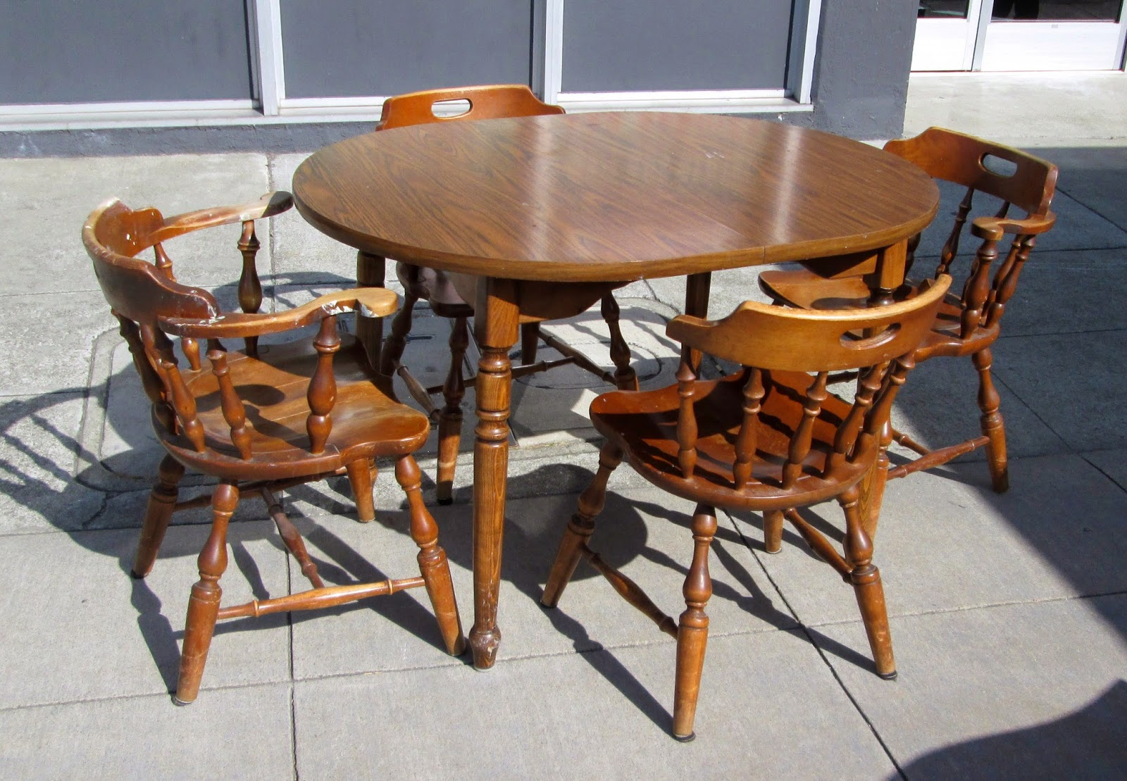 SOLD Early American Table 4 Chairs