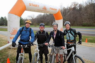 Clayton Cummings, Sean Sorter, Aaron Fanetti and Brian Hey in the Castlewood Adventure Race 2015