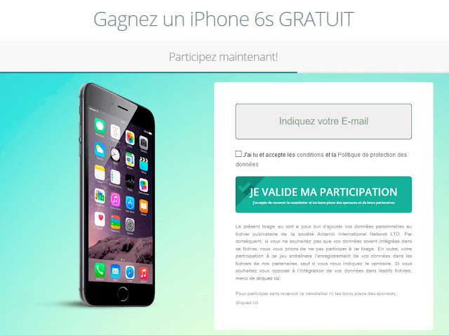 concours iphone 6s
