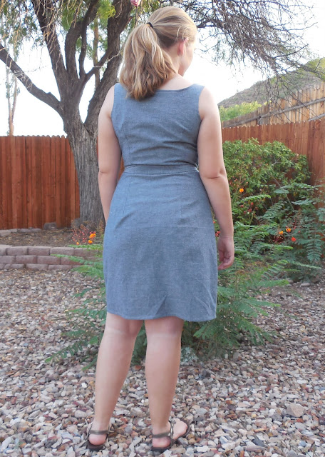 chambray  seamwork adelaide dress back