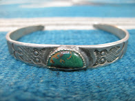 画像①               ~30's NAVAJO               「卍×OWL etc.」               COIN SILVER BANGLE