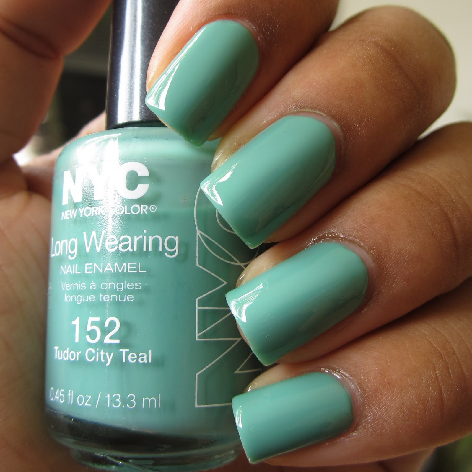 NYC Tudor City Teal nail polish swatch