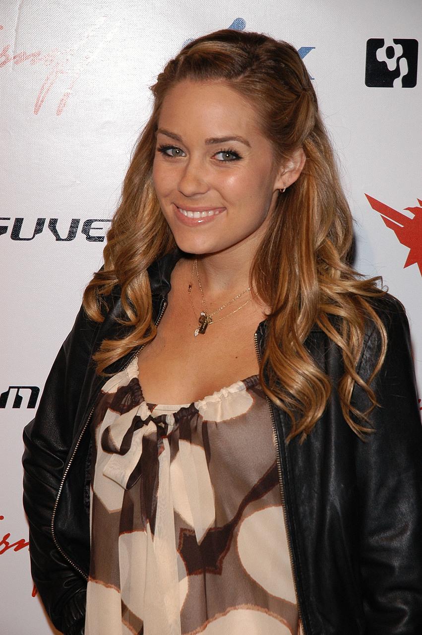 Lauren Conrads Wavy Half Updo Hairstyle The Latest Hairstyle