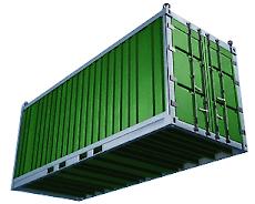 Waar staat de container?