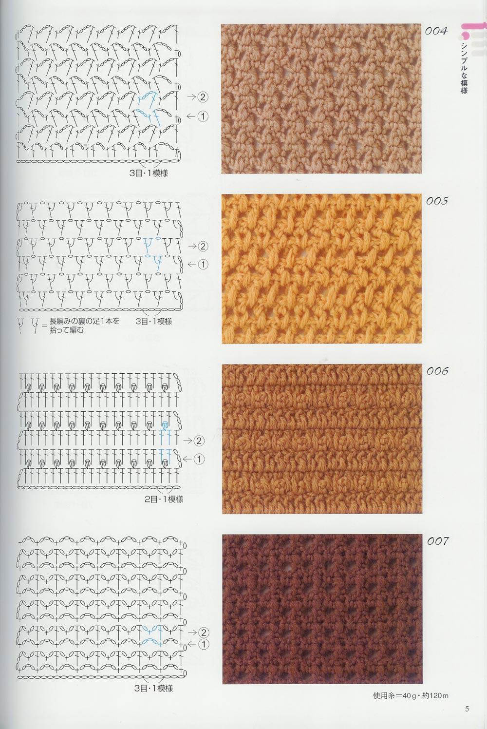 Crochet puntos tupidos