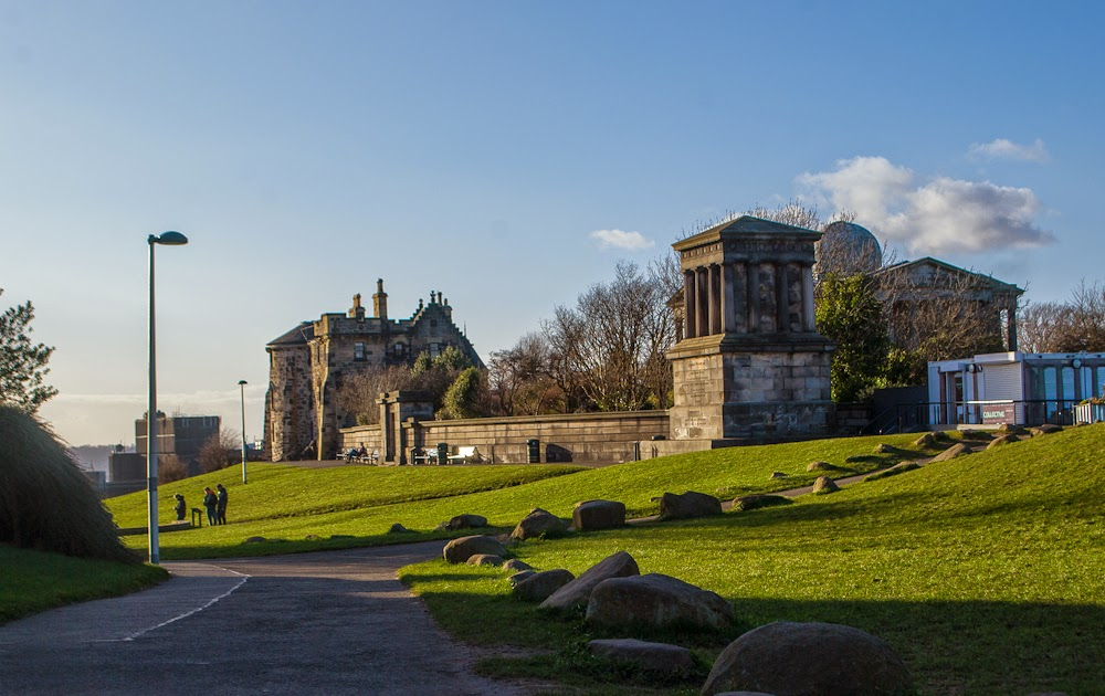 walking up calton hill