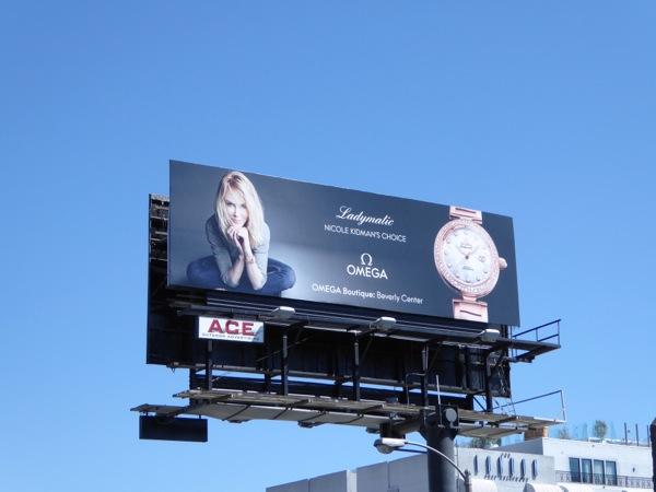 Nicole Kidman Omega Ladymatic watch billboard