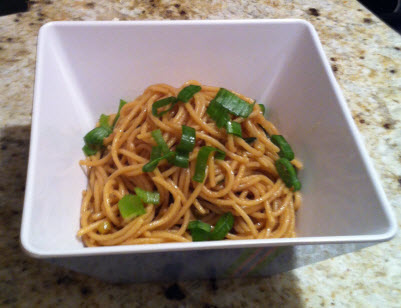 DoughMestic Diva: Garlic Scallion Sesame Noodles