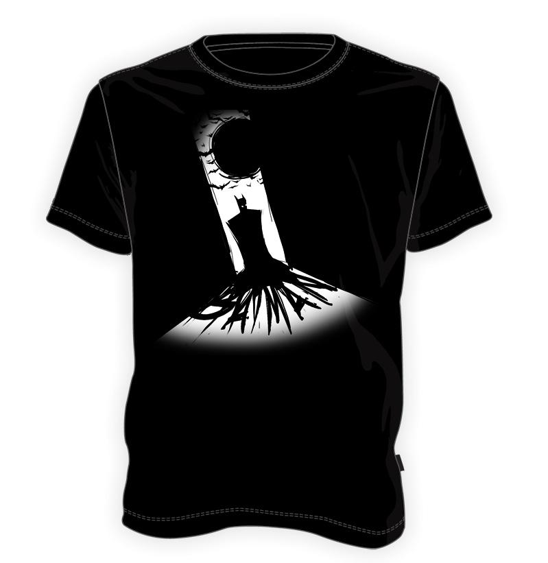 koszulka z cieniem Batmana
