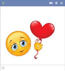 emoticon Facebook cinta