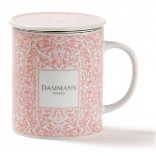 tasse rose romantique thé