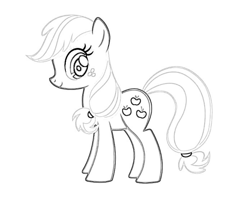 #21 My Little Pony Applejack Coloring Page
