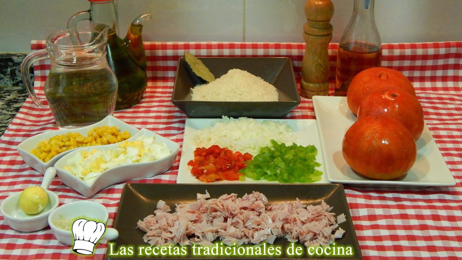 Receta de tomates rellenos con ensalada de arroz