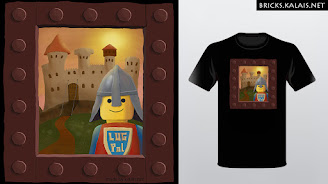 Lego Knight illustration