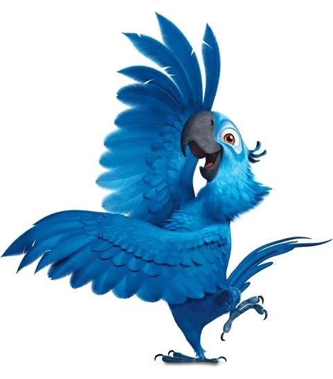 Desenho Blu do filme Rio colorido