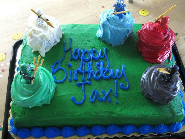 Another NinjaGo Birthday Cake &  Worm Cupcakes