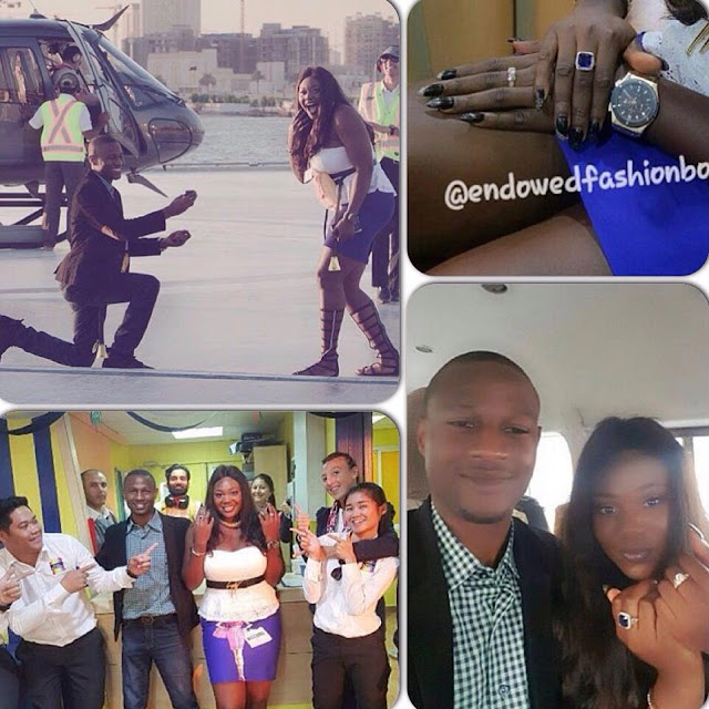 See The Romantic Nigerian Couple That Went Viral After Man Proposed To Girlfriend With Two Rings (Photos)